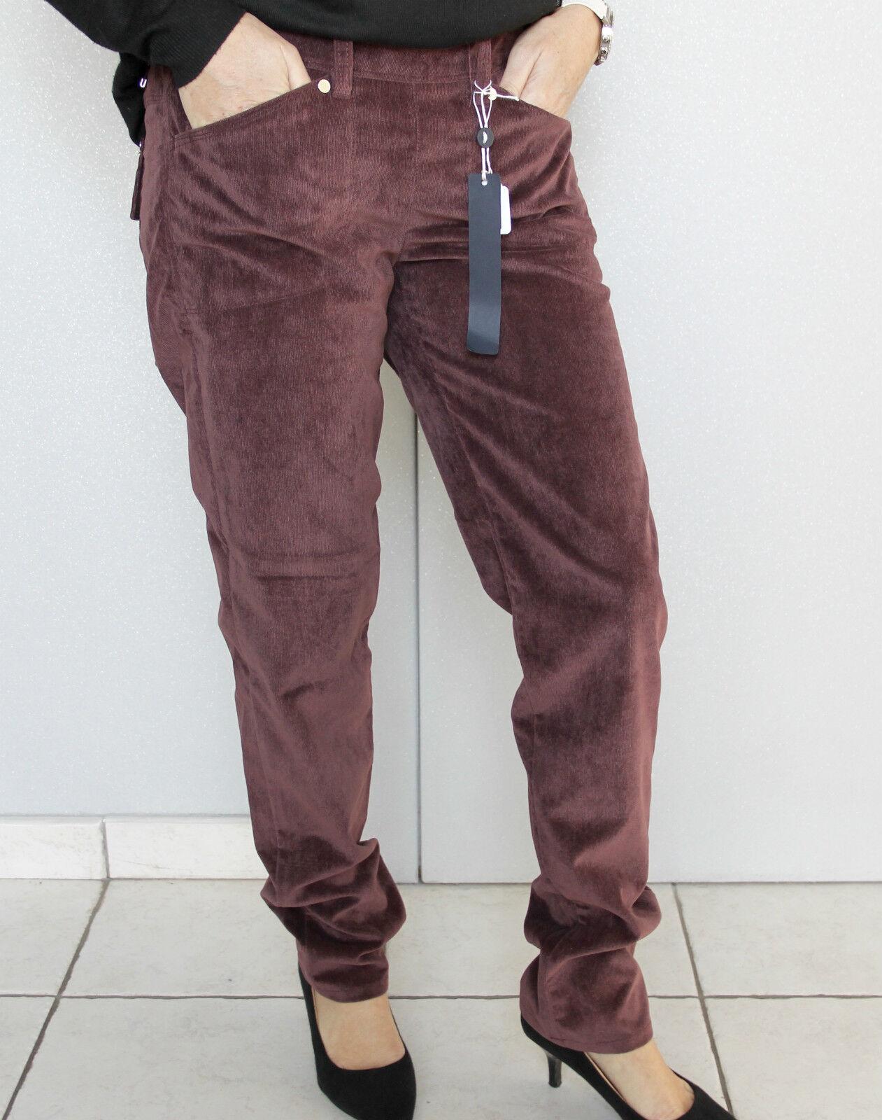 Pantalon velours ras bordeaux HIGH USE T 38 40 (I 42) NEUF ÉTIQUETTE val.