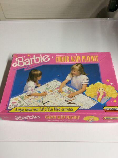 Acquista A Buon Mercato Barbie Colore Nuovamente Playmat Spears Games 1991 Mattel In Buonissima Condizione Puzzle Da Colorare Gioco