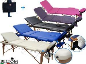 Lettino Pieghevole Per Massaggio.Lettino Massaggio 3 Zone Legno Lettini Per Da Massaggi Portatili