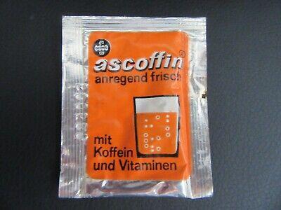 Ascoffin-brausepulver Mit Koffein Und Vitaminen-ungeöffnet-original Ddr...2