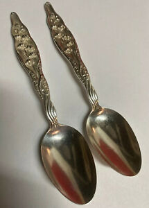 """S LILY OF THE VALLEY-WHITING STERLING TEASPOON -5 7//8/""""-NO MONO"""