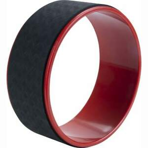 Pure2Improve-Yoga-Wheel-30cm-Black-and-Red-Gym-Exercise-Pilate-Stretch-Roller