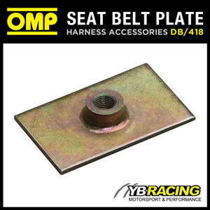 DB-418-OMP-RACING-HARNESS-PLATE-amp-THREADED-NUT-7-16-034-FIA-APPROVED-MOTORSPORT