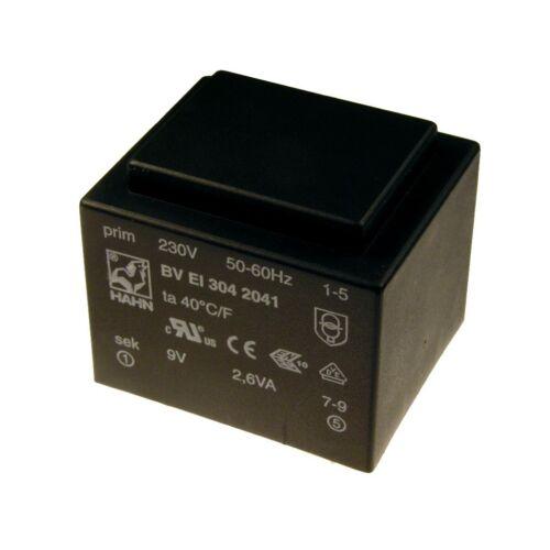 Hahn print transformateur 230v printtrafo 2,6va 9v netztrafo transformateur 098311