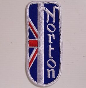 VINTAGE-NORTON-MOTORCYLES-EMBROIDERED-PATCH-WOVEN-CLOTH-BADGE-SEW-ON-JACKET-VEST