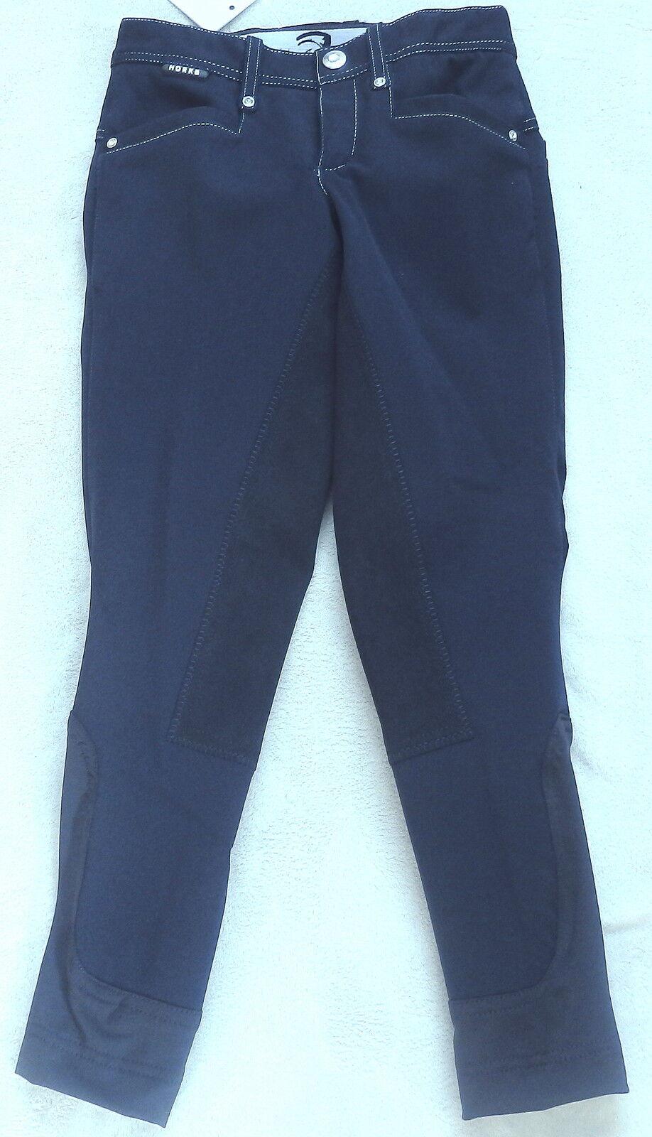 Horka Donna Pantaloni Montala, guarnizione in pieno, Blu scuro, dimensioni 36, modelloLO ATHENA Elasta (5)
