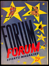 1954-55 MONTREAL FORUM SPORTS MAGAZINE SPRINGFIELD VS MONTREAL ROYALS CANADIENS