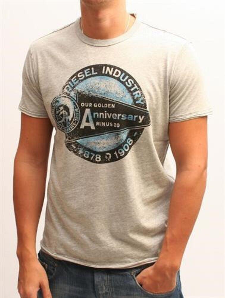 T-Shirt Diesel 100% Original Jersey Grey Printed Various Sizes