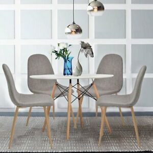 Image Is Loading Dining Table Chairs Set Retro Seat Metal Leg