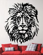 Lion Vinyl Sticker Safari Wildlife Wall Decal Art Animal Head Room Decor 5emd
