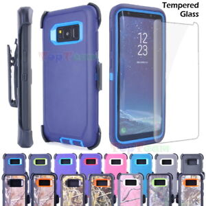 wholesale dealer 5293c 83cce Details about Samsung S8 Plus Note 8 Shockproof Case Cover, Tempered Glass,  Clip fit Otterbox
