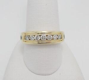 Vera Wang Love Collection 34CT Mens Diamond Wedding Ring Band 14K