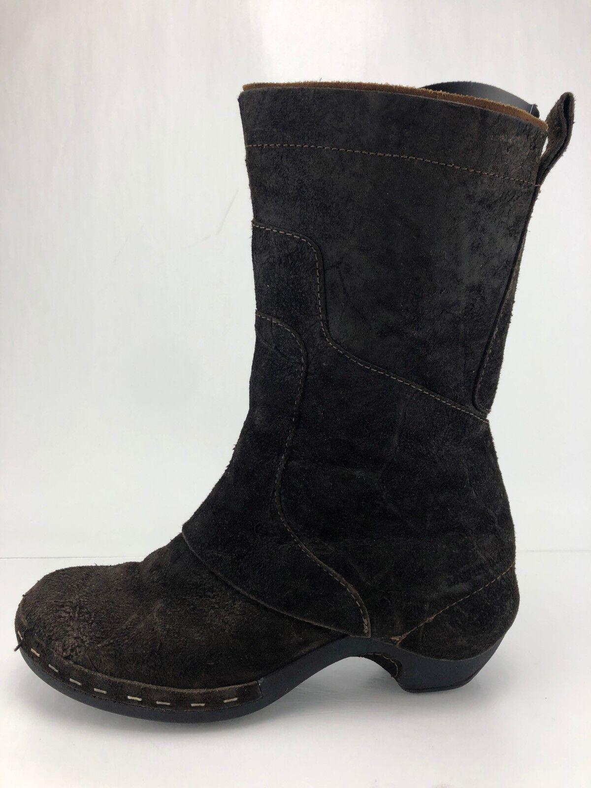 Merrell Luxe Stiefel Espresso braun Suede Zip Mid Calf Heel Stiefelies damen 10