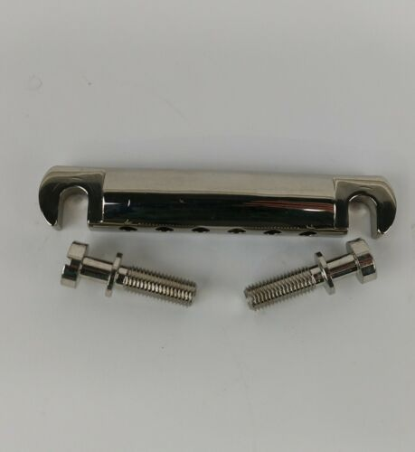 Gibson Nickel UNBRANDED Tailpiece 6-string w//Studs Cleaned HW82
