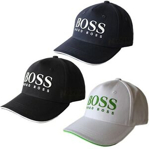 Image is loading HUGO-BOSS-GREEN-BASEBALL-CAP-GOLF-Cap-034- 54f9334206b