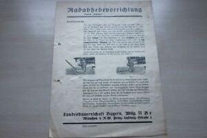 197381 Landesbauernschaft Bayern Prospekt 1935 Radabhebevorrichtung