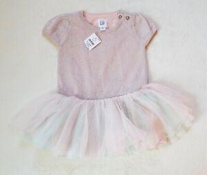 b9619fa47007 Baby Gap Baby Girl Spring Easter Pink Tutu Shimmer Dress 6-12 Months ...