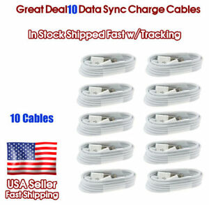10X-8-Pin-USB-Charger-Cord-Cable-for-iPhone-8-6S-6-5-iPhone-7-X-Wholesale-Lot