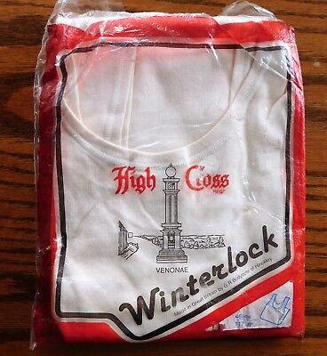 Mens interlock vest High Cross Winterlock Vintage British warm underwear