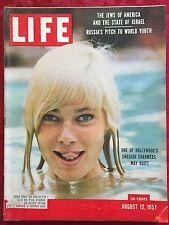 Life Magazine August 12 1957  Hollywood's Swedish Charmer May Britt