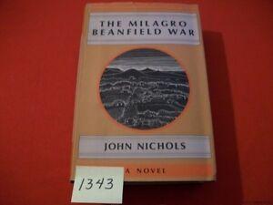 THE-MILAGRO-BEANFIELD-WAR-JOHN-NICHOLS-1974-1ST-ED-SIGNED-BY-AUTHOR-RARE-HTF