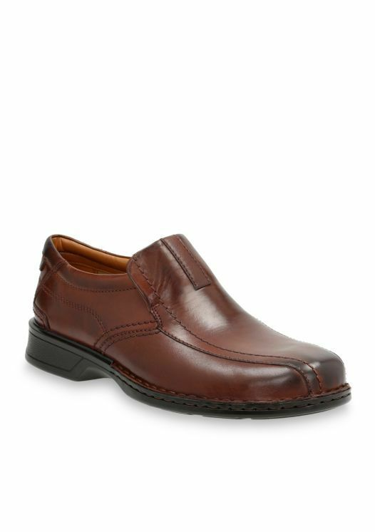 Clarks Men's Escalade Step Slip-on Loafer- Brown Leather 26113919 New in Box!!