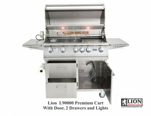 Details about  /Lion 90000 40 Inch Premium Propane Grill On Cart