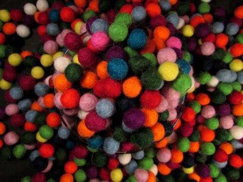 F50 Decorative felt ball pom pom 1cm 200pc Christmas  hand craft wool mix color