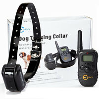 300m Range Rechargeable Lcd Remote Shock Control Dog Training Collar