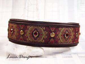 Collier de chien collier en cuir 1001 nuit bdog collier avec swarovski
