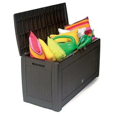 Garten Außen Aufbewahrung Plastik Kiste Nutzen Brust Kissen Schuppen 310L Patio