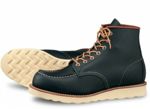 Mens Toe Shoes Red Portage Work Navy 6 8859 Nero Wing Moc pollici Heritage 5TTnqOR