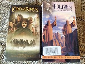 Lord Of The Rings VHS Lot *Brand New* Master Of The Rings & Fellowship Of Ring