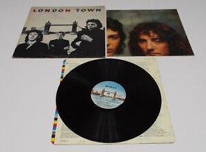 Wings-London-Town-Vinyl-LP-Inner-Sleeve-amp-Poster-VG