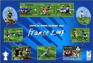 2007-Coupe-du-Monde-de-Rugby-Bloc-n-110-nuovo-mint