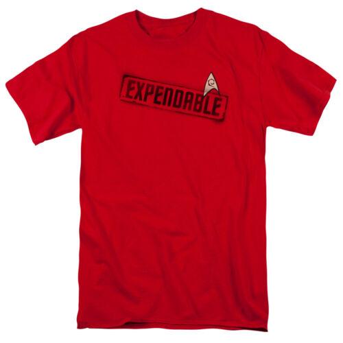 Star Trek Original Series Red Shirt Uniform with Expendable Stamp T-Shirt S-3XL