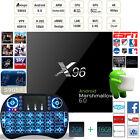 X96 2+16GB Android 6.0 Latest 16.1 Smart TV BOX S905X Quad core+Backlit Keyboard