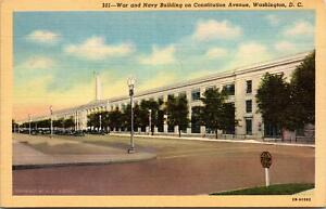 War-and-Navy-Building-Constitution-Ave-Washington-DC-Postcard-unused-1930s-40s