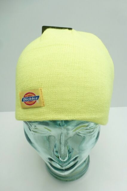 07aba89ff Dickies Mens 9 Inch Knit Beanie Hat Safety Yellow One Size for sale ...