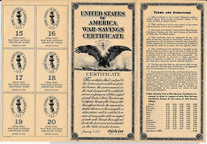 RC0152 1918 war-savings certificate combine shipping