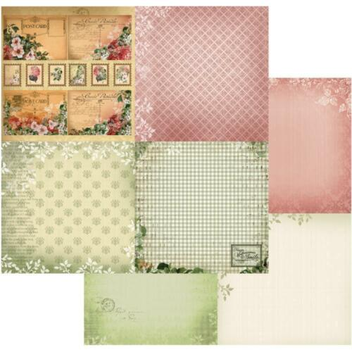 """Couture Creations Vintage Rose Garden Double-Sided Paper 12X12/"""" versch.Motive II"""