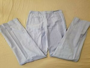 Womens-Brooks-Brothers-Khaki-Dress-Pants-6-Blue-Cotton-Chino-Slack-31x32