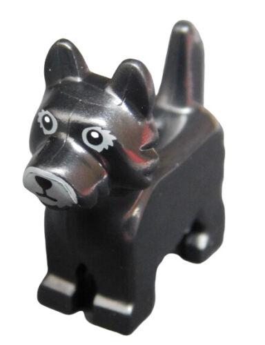 Lego Hund in schwarz 26078pb003 schwarzer Terrier Tier Neu