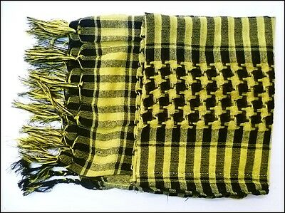 Yellow Men ladies Wrap Arab Arafat Shemagh Keffiyeh Scarf Shawl Pashmina