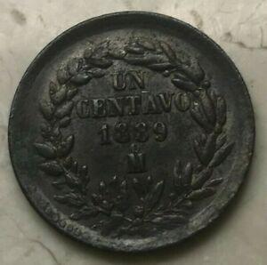 1889-Mo-Mexico-1-One-Centavo-Uncirculated-Copper