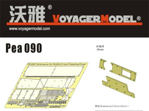 1//35 Voyager PEA090 Turret Amour for PzKpfw IV Ausf G Late//Ausf H Early For ALL