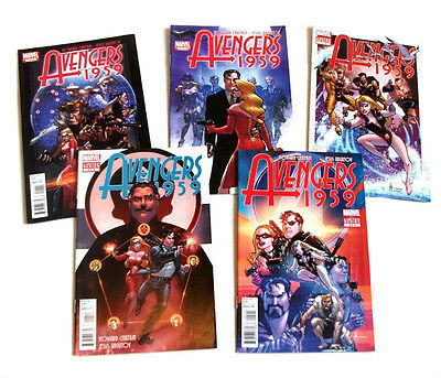 Marvel Comics AVENGERS 1959 limited series 1- 5 issues full set,  uncanny