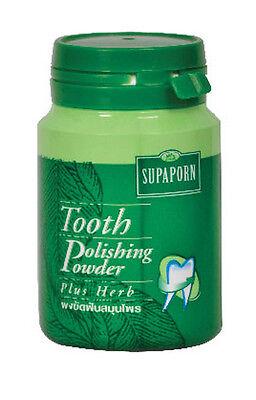SUPAPORN Tooth Polishing Powder Plus Herb Freshen Breath Thai Herb Toothpaste
