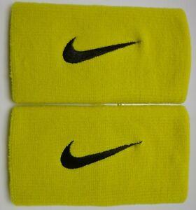 Nike Premier Doublelarge Bracelets Sport Femme Homme Bright Citron/noir-afficher Le Titre D'origine Ventes Bon Marché