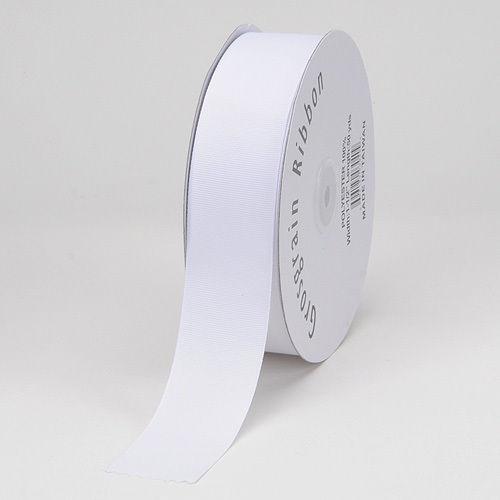 2 inch grosgrain ribbon 20 yards white
